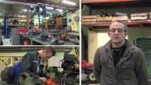 Maintenance des matériels parcs et jardins au lycée de Giel