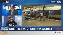BFM Story: la grève des cheminots de la SNCFcontre la réforme ferroviaire - 11/12