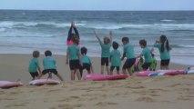 Séance d'échauffement avec Surf Seignosse Paradise