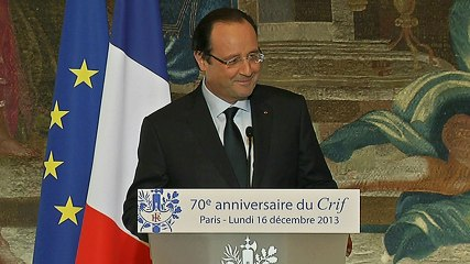 Discours à l'occasion du 70ème anniversaire du Conseil Représentatif des Institutions juives de France (CRIF)