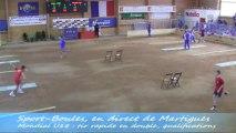 Tir rapide en double, qualifications, Sport Boules, Mondial U18 Martigues 2013