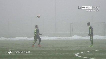 Pablo Hernández (Swansea City) - Geste à l'entrainement