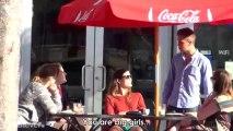 Un américain drague des filles en Français... Le langage de l'amour selon eux!