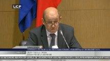 Travaux en commission : Audition de Jean-Yves Le Drian, ministre de la Défense, par les commissions des affaires étrangères, de la Défense et des affaires européennes.