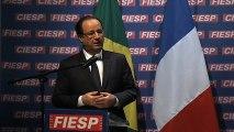 Rencontre avec M. Paulo SKAF, président de la FIESP (fédération des industries de l'Etat de São Paulo), et la communauté d'affaires de São Paulo - Allocution du chef de l'Etat