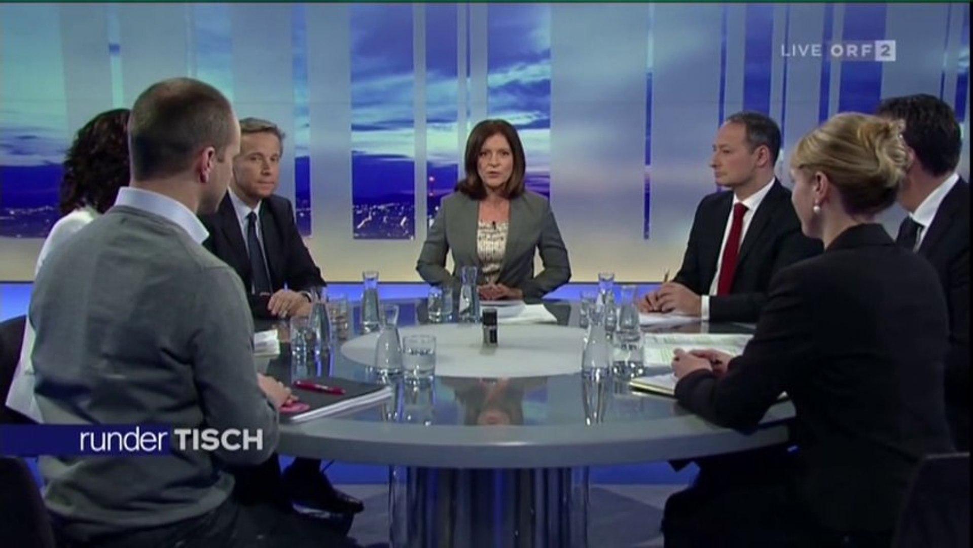 RunderTisch mit SPÖ ÖVP FPÖ DieGrünen Neos Team Stronach -