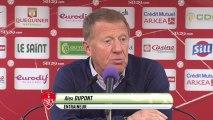Conférence de presse Stade Brestois 29 - Nîmes Olympique (1-1) : Alex  DUPONT (SB29) - Victor ZVUNKA (NIMES) - 2013/2014