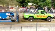 500 HP Small Block Chevy 4x4 On Racing Fuel Super Stock Truck Pull