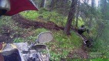 Rough Terrain Offroading: ATV Gets Stuck While Mudding