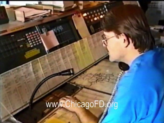 Chicago Fire Dept. - Main & Englewood Fire Alarm Offices in 1994