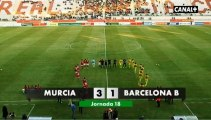 Liga Adelante  Murcia 3 Barcelona b 1