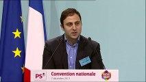 Eduardo RIHAN CYPEL à la Convention nationale du Parti socialiste sur les élections municipales de 2014