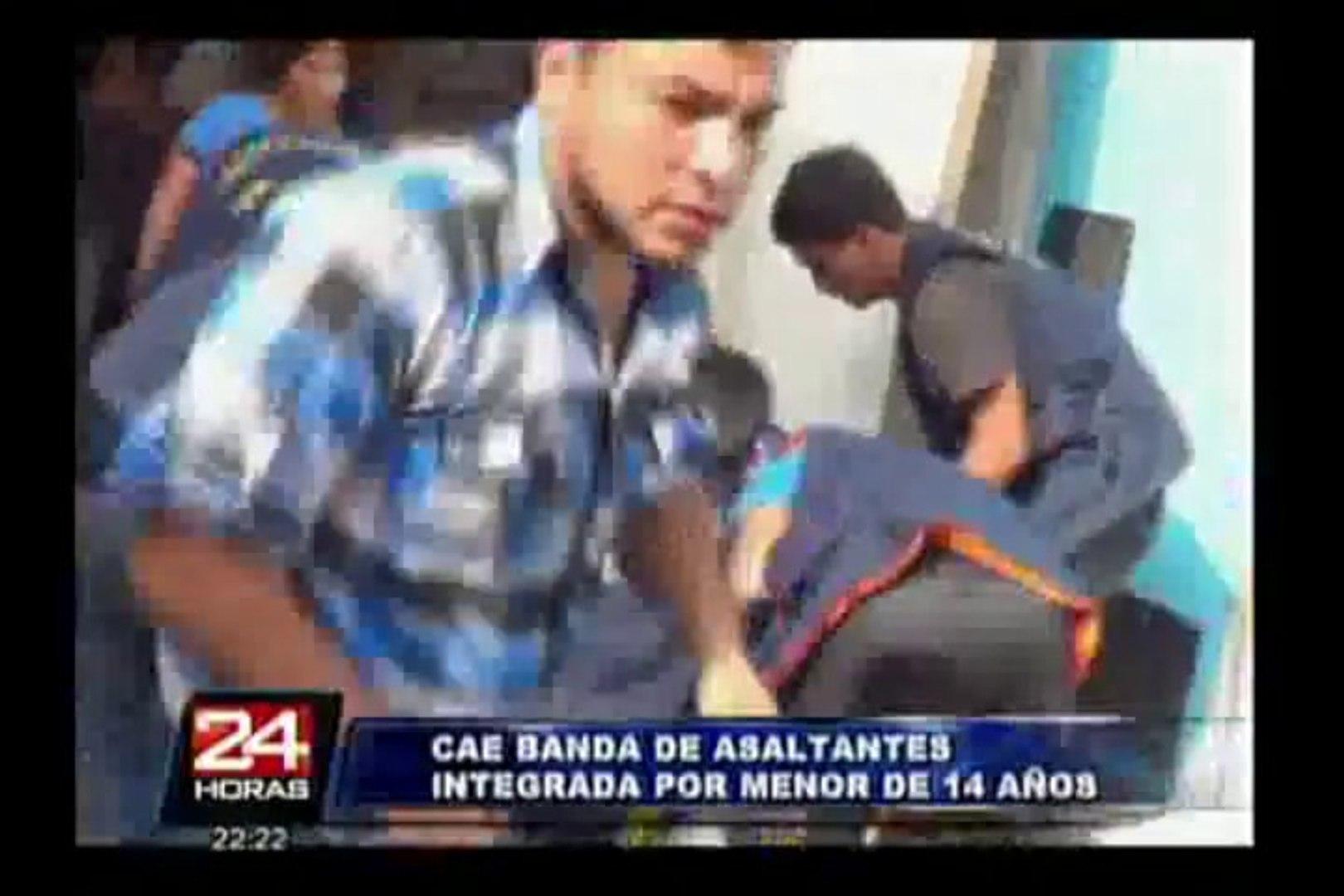 Menor de 14 años integraba banda de jóvenes asaltantes en la Vía de Evitamiento
