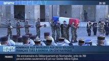 BFMTV Replay: Hollande rend hommage aux Invalides aux deux soldats français tués à Bangui - 16/12