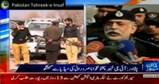 KPK IG Nasir Durrani speaking to media on KPK Security and govt policy to improve the police department in KPK