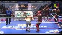 Mistico, Máscara Dorada, Valiente vs. Dragón Rojo Jr., Pólvora, Rey Escorpión - CMLL 80th Anniversary