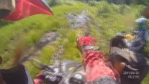 ATV Offroading: 1 Rider Gets Stuck