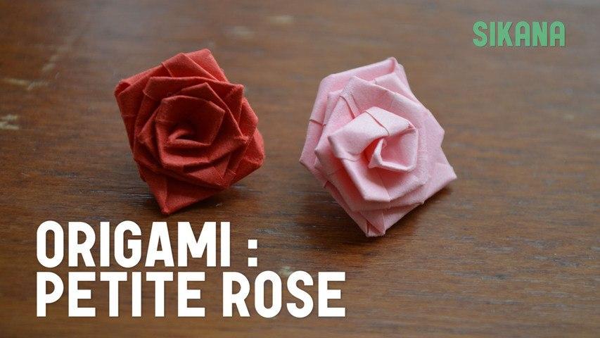 Comment faire une petite rose en papier ?