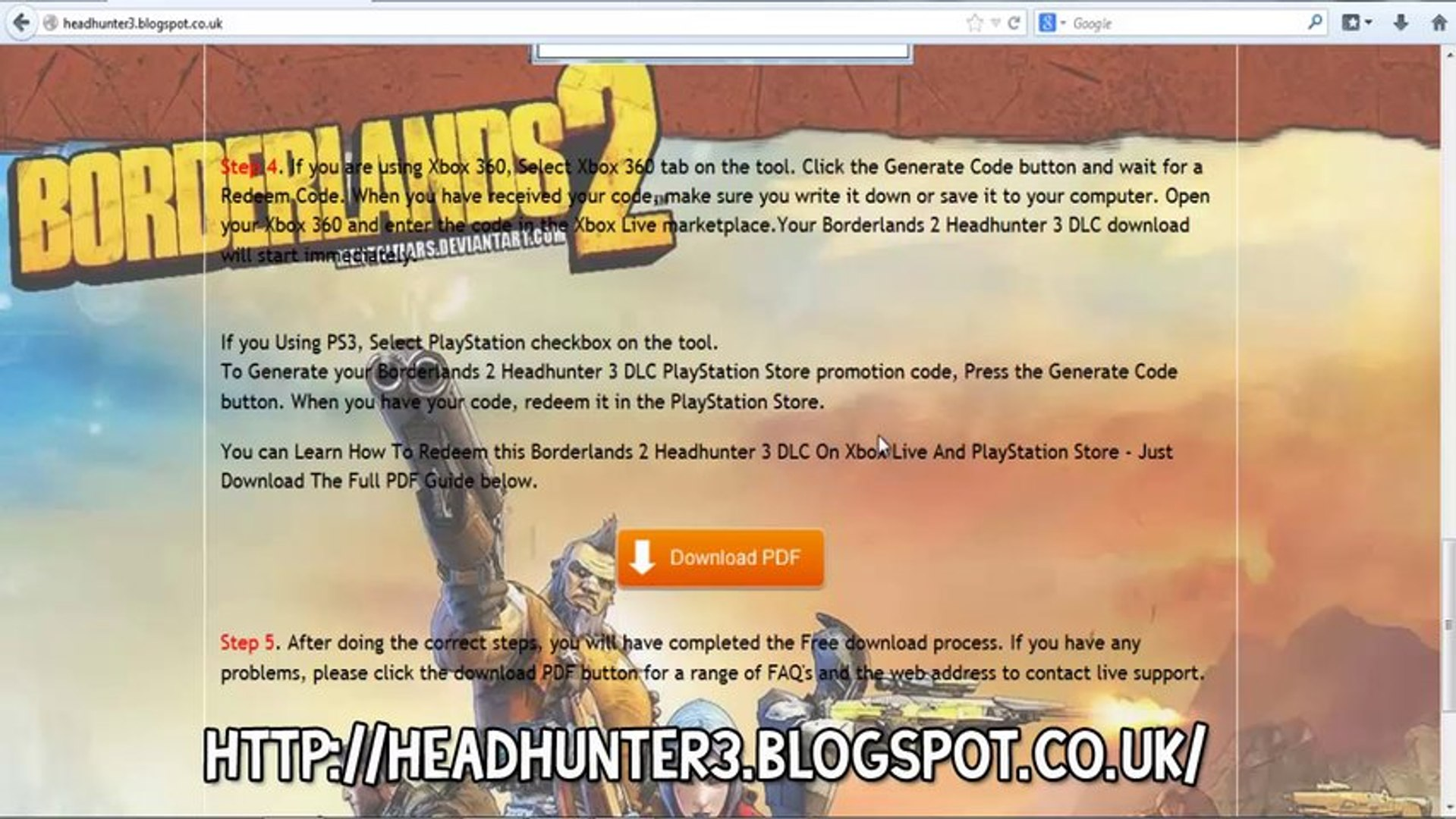 Borderlands 2 Headhunter DLC Codes