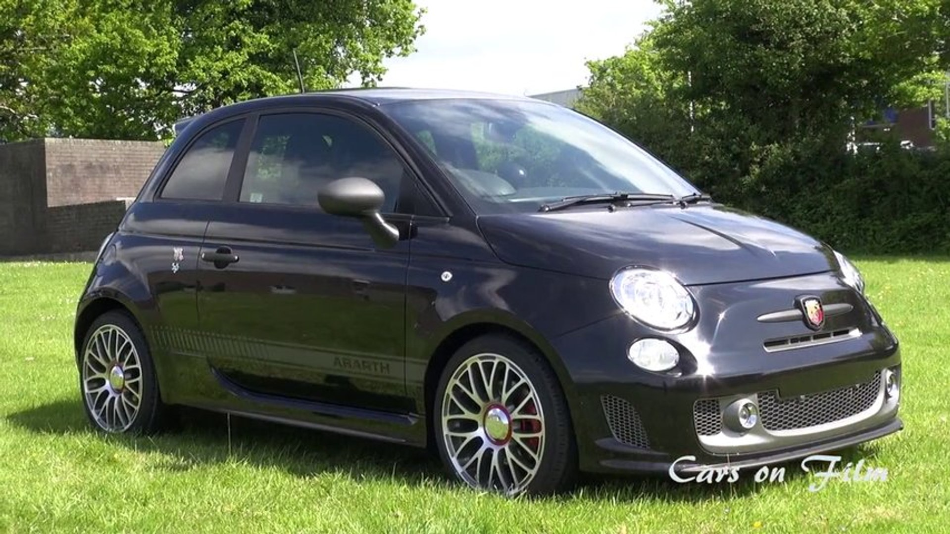 2013 Abarth 595 Turismo in Black with 10 spoke wheels
