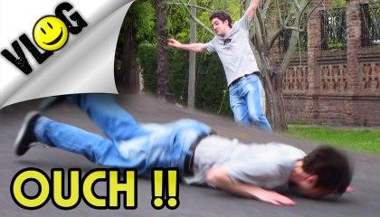TERRIBLE SKATEBOARD FACEPLANT!!  | Argentinian Speaking English - VLOG #45