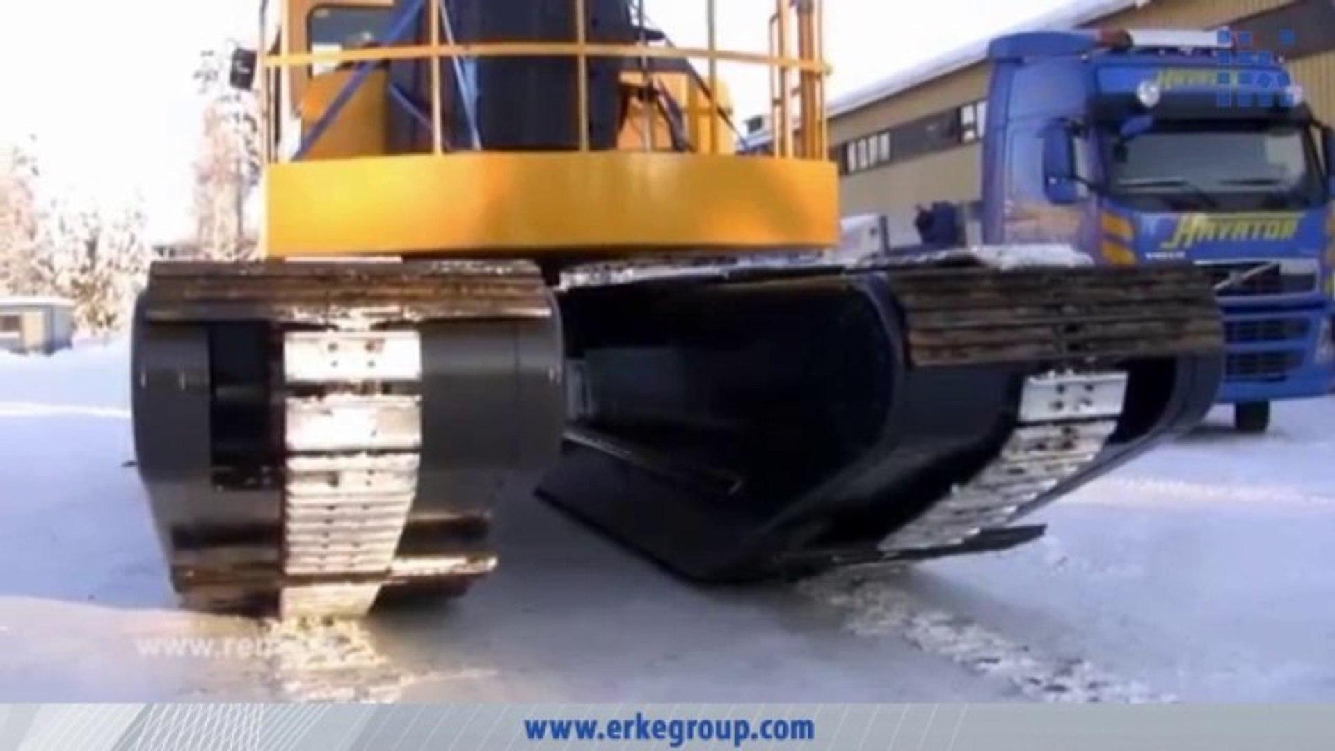 ERKE Dış Ticaret ltd., Big Float 12.24 Amphibious Excavator - Loading - www.erkegroup.com