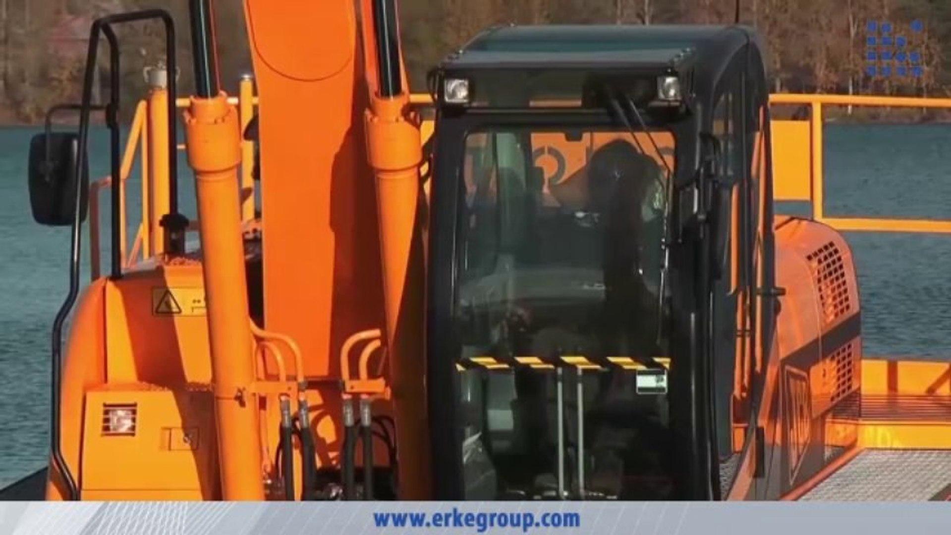 ERKE Dış Ticaret ltd., Big Float 12.24 Amphibious Excavator - River Cleaning - www.erkegroup.com