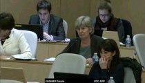"""AP 19 décembre 2013 - Intervention de Nicole VAGNIER sur l'amendement n° 061 présenté par EELV et PSEA sur la ligne """"Transports"""""""