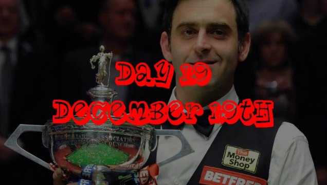 Advent Calendar Day 19 - O'Sullivan Wins 5th World Title