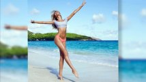 Candice Swanepoel Sizzles on Sun-Drenched Victoria's Secret Swimwear Shoot