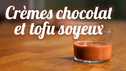Crèmes chocolatées au tofu soyeux
