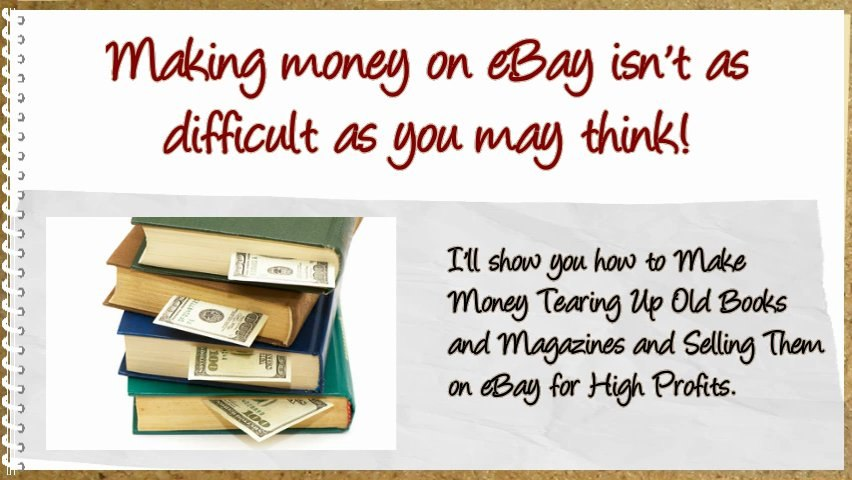 How To Make Money Tearing Up Old Used Books Magazines and Newspapers and Sell Them On ebay | Godialy.com