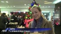 Achats de Noël: dernier rush à Paris