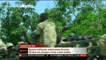 Ataque a aviões deixa quatro militares americanos feridos no Sudão do Sul