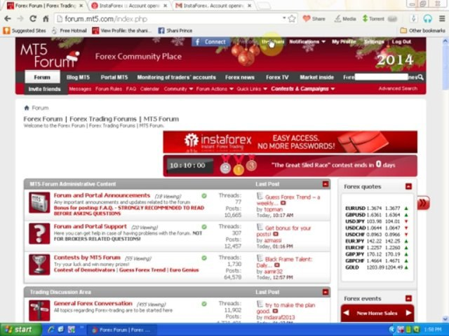how to attach instaforex account with mt5 forum urdu training by zeeshan services inc