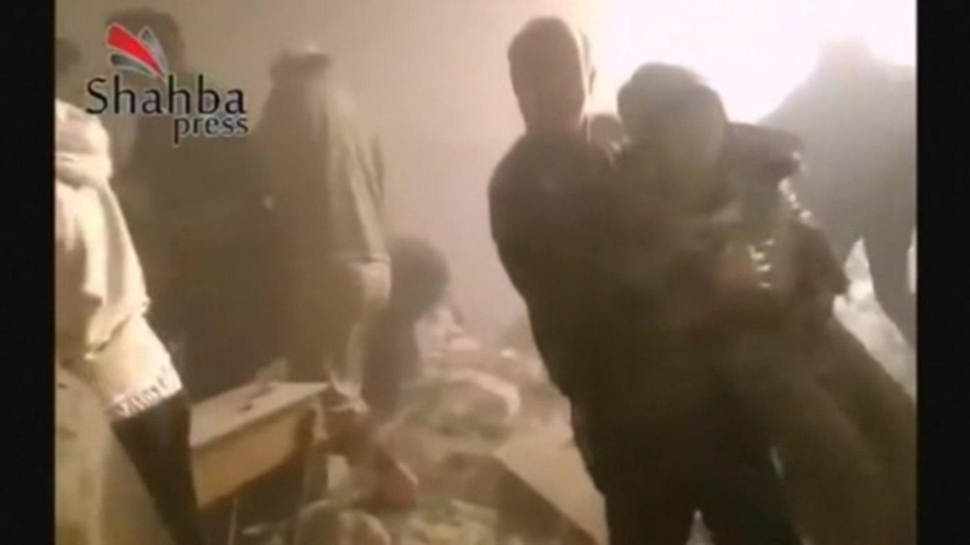 Air strike in Syria's Aleppo hits school, killing at least 42