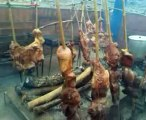 """a fuego lento Carne a la llanera, ternera, mamona, cochinillo, costillas de lechón, parrillada, preparado en su hogar por A fuego lento """"la mejor carne del planeta. web: afuegolento.wix.com/carne"""
