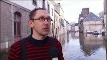 La ville de Morlaix, dans le Finistère, a les pieds dans l'eau