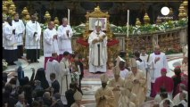Pope Francis celebrates first Christmas Eve midnight mass at St Peter's Basilica