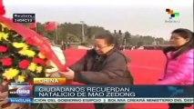 Gob. de China conmemora 120 aniversario de natalicio de Mao