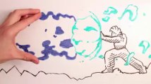 markers vs markers    a hand fight with takken cartoon