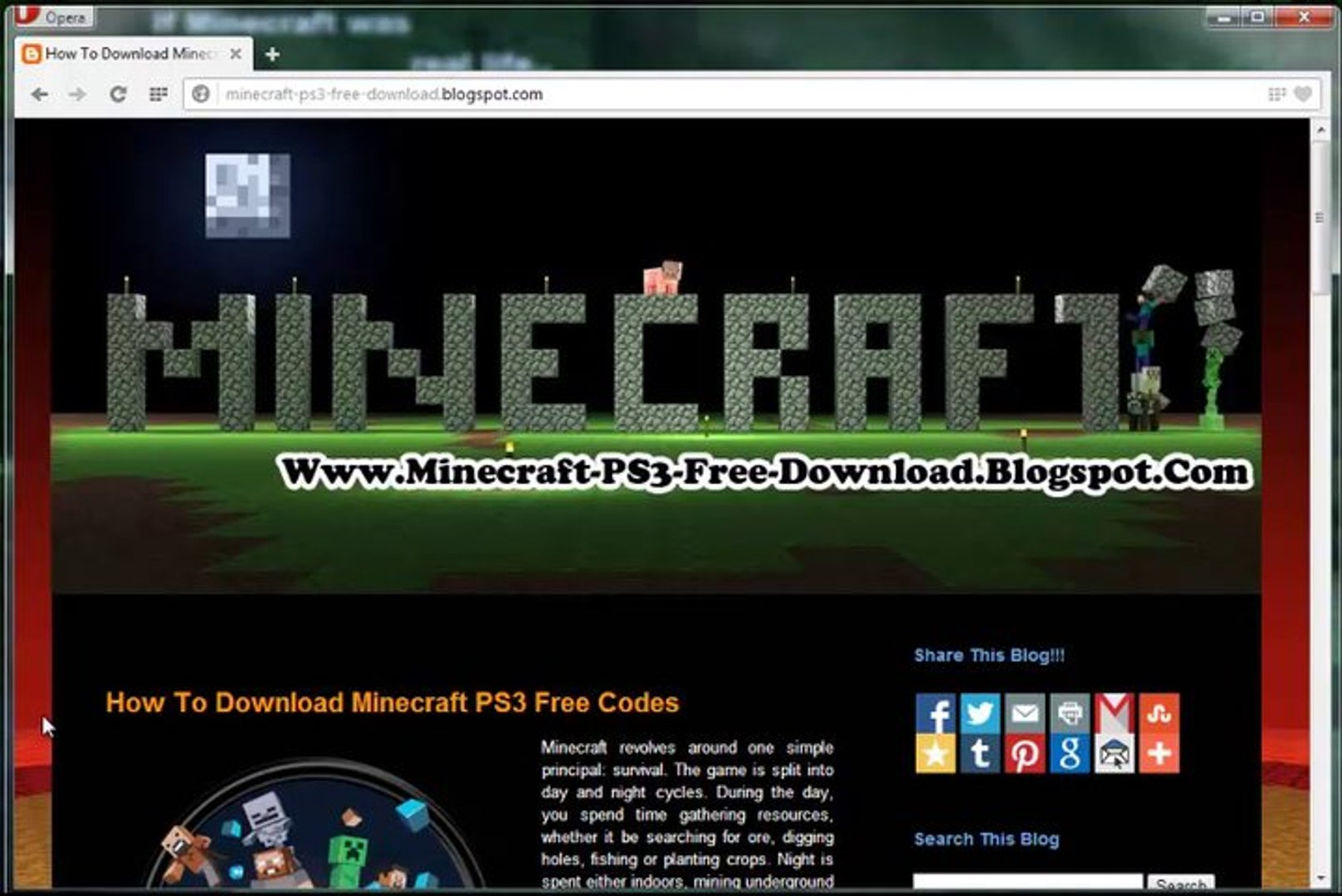 Minecraft PS3 Free Redeem Codes