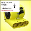 Clearance BlueDri Jetster ETL Listed Yellow Air Mover Carpet Blower & Floor Dryer with low amps + GFCI & Carpet Clamp 1...