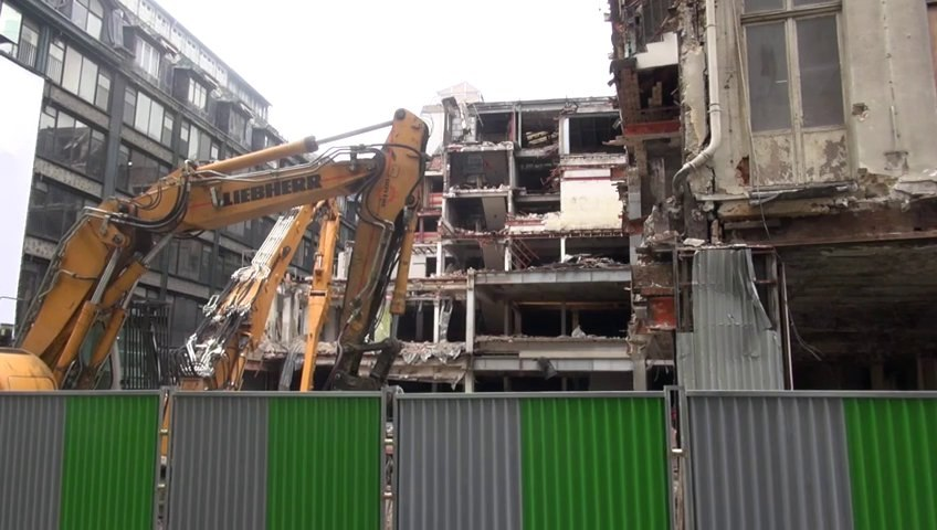 Destruction des immeubles de la Samaritaine