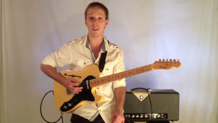 Blues Guitar Lesson – Guitar Riff Over a 12 Bar Blues Progression in E7 – Rhythm Guitar