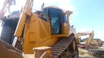 Starting old Caterpillar D8 dozer with pony motor - video