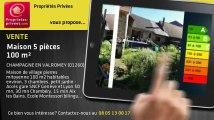 A vendre - maison - CHAMPAGNE EN VALROMEY (01260) - 5 pièces - 100m²