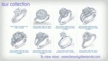 Beverly Diamond - Engagement Diamond Ring, Round Cut Diamond, Princess Cut Diamond