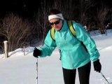 """Sylvia au ski de fond à """"La Vue des Alpes"""" 31-12-2013"""