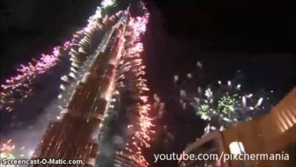 New Year Fireworks Guinness World Record Dubai 2014